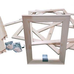 Premium Holzkeilrahmen 10 Querleisten 100 cm