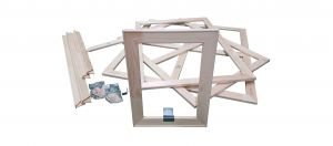 Premium Holzkeilrahmen 20 Leisten 110 cm